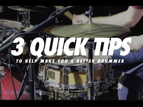 3 Quick Tips to Help Make You a Better Drummer!