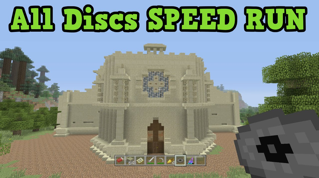 Minecraft TU31 Tutorial World ALL MUSIC DISC Speed Run!