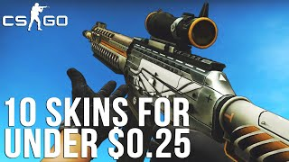 CS:GO - 10 Weapon Skins Under $0.25 (Part 02)