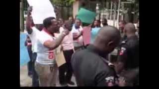 efcc lockout protesters against alison madueke in lagos festour