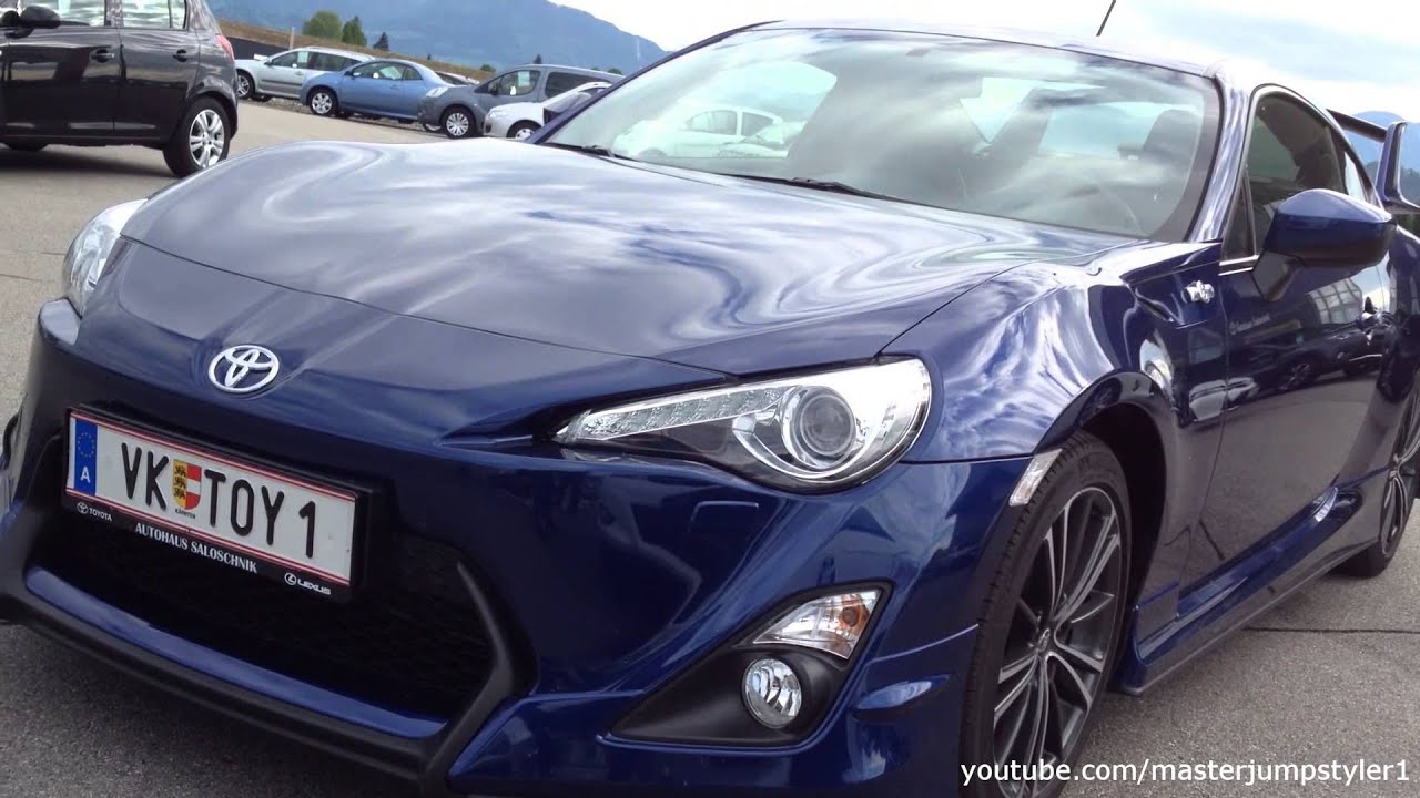 toyota gt86 blue with aero kit youtube. Black Bedroom Furniture Sets. Home Design Ideas