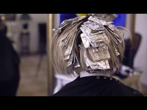 Видео Мелирование прядей на темных волосах фото