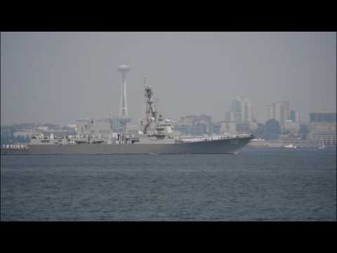 B-Roll of Seattle Seafair Parade of Ships 2017