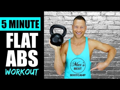 5 MINUTE KETTLEBELL ABS WORKOUT FOR A FLAT STOMACH | Quick Kettlebell Abs Workout Routine 1