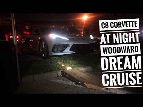 Woodward Dream Cruise 2020.2020 C8 Corvette 1lt Night Footage Interior View