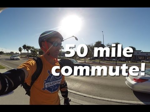 50+ mile commute on an electric unicycle