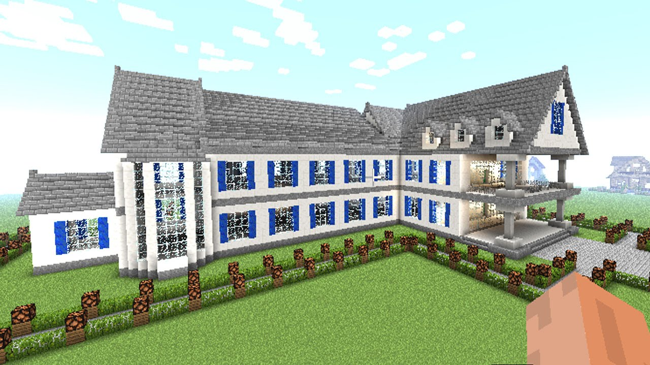 big home designs.  MINECRAFT how to make a BIG house complete guide of MANSION blueprints 23 YouTube