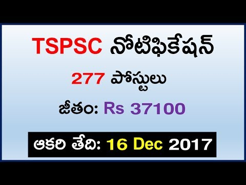 Telangana TSPSC ASSISTANT EXECUTIVE ENGINEERS Job Notification Details