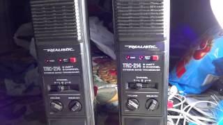 Old Realistic TRC 214 CB walkie talkies