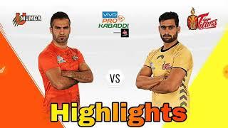 Pro Kabaddi season 6 telugu Titans vs U mumba match highlights// kabaddi aaj ke match ki highlights