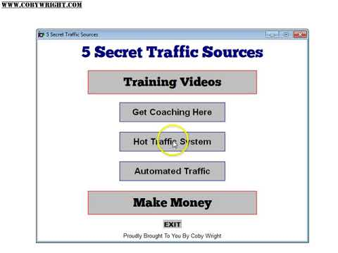 Brandable PLR Software 5 Traffic Sources Software Demo by Coby Wright