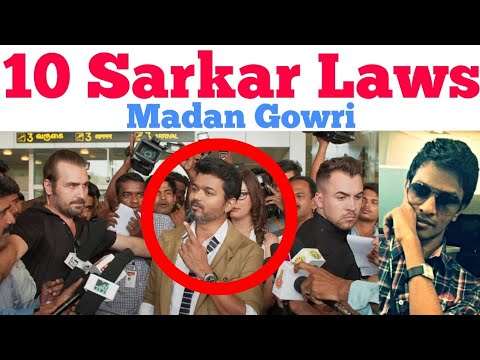 10 Sarkar Laws   Tamil   Madan Gowri   MG   Vijay   Murugadoss