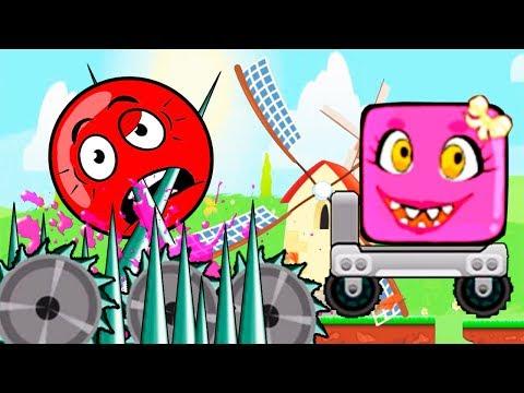 МУЛЬТИК - КРАСНЫЙ ШАРИК и Розовый Шар (квадрат) Девочка - Red Ball! Серия 3
