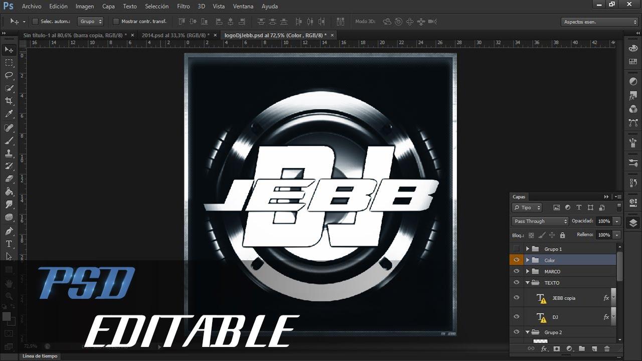 2 u00ba logo para dj psd editable  u2192 virtualjebb 2015
