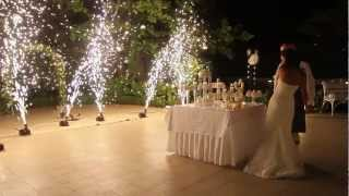 видео Свадебные фейерверки