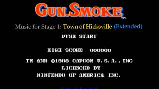 Gun.Smoke (NES) - Stage 1 Music - Town of Hicksville (Extended)