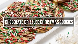 Chocolate Drizzled Christmas Cookies