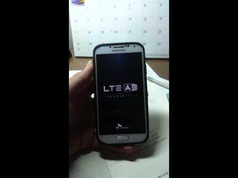 갤럭시S4에 광대역LTE-A 부팅애니메이션