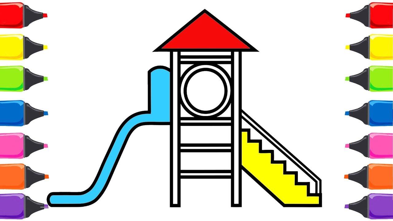Oyun Parkı Boyama Renkleri öğreniyorum Boyama Oyunu Nasıl çizilir