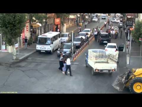 Adıyaman'da trafik kazaları MOBESE kamelarına yansıdı