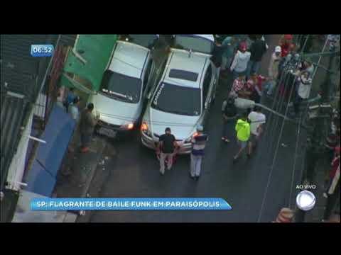 """Balanço Geral flagra """"pancadão"""" em Paraisópolis (SP)"""