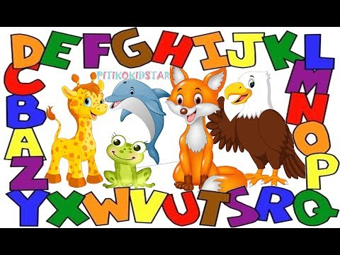 Learning Alphabet  ( D,E,F,G) with Animals Names and Sounds for kids in English