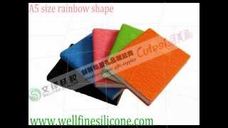 2012 fashion silicone cover notebook a5 a6 a7 size share