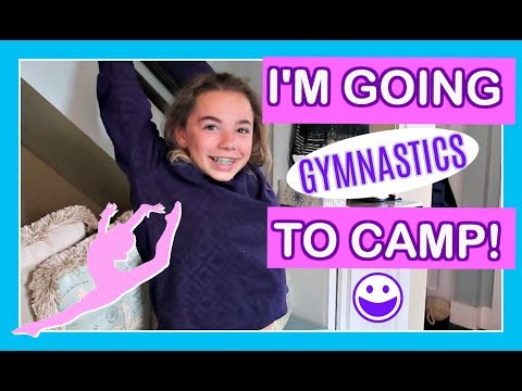 SHE'S GOING TO 😍 GYMNASTICS CAMP🏆 | Flippin' Katie