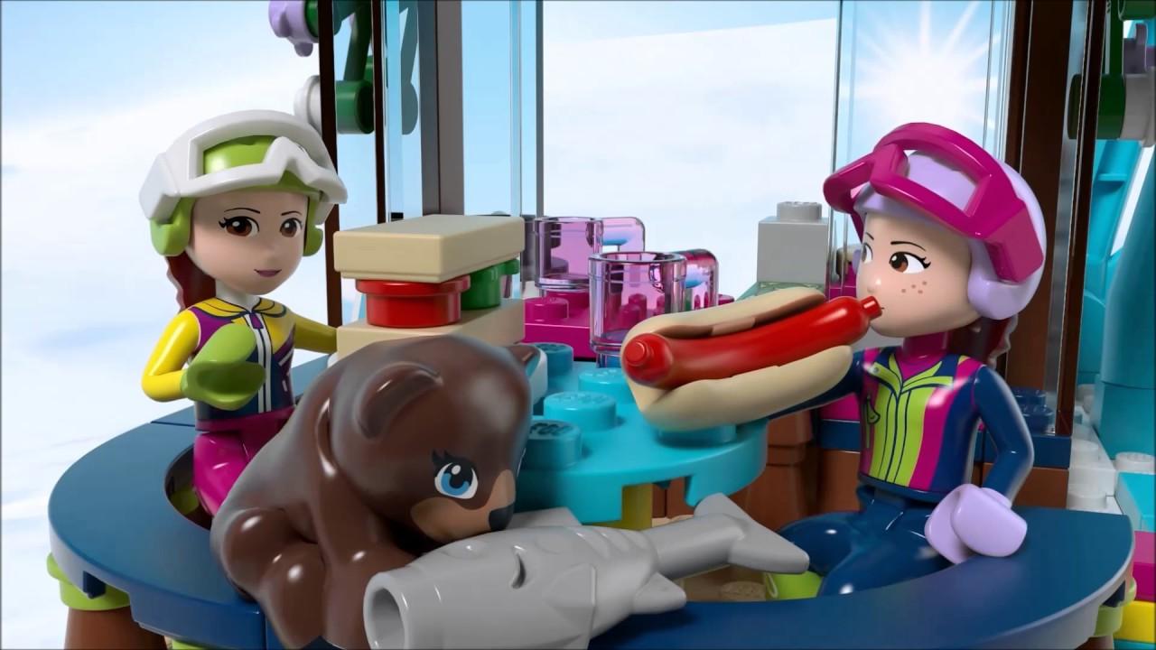 Smyths Toys Lego 41324 Friends Snow Resort Ski Lift Youtube