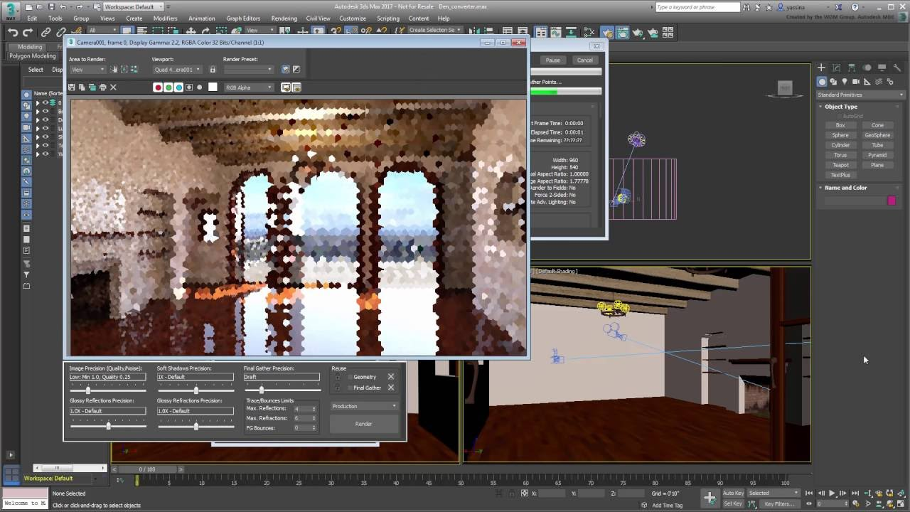 3ds Max Lighting and Rendering - Using the Scene Converter