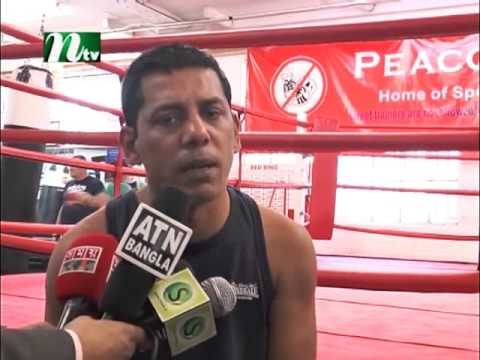 Bangladeshi boxer SUR CHAKMA & Ali Jacko news @ NTV EUROPE 23 August 2015