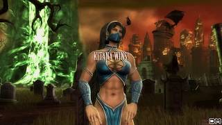 Kitana (Costume 1) Performs All Character Intros & Victory Celebrations on Soul Chamber MK9 PC