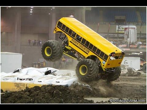 huge school bus monster truck HIGHER EDUCATION MONSTER TRUCK