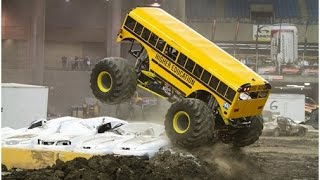 huge school bus monster truck HIGHER EDUCATION MONSTER TRUCK