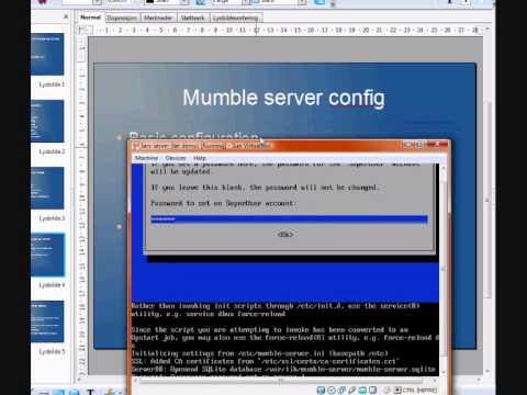 how to make a mumble server