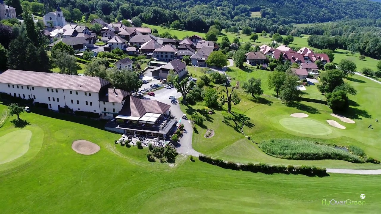 Golf De Giez Lac D'annecy - drone aerial video - Overview HD