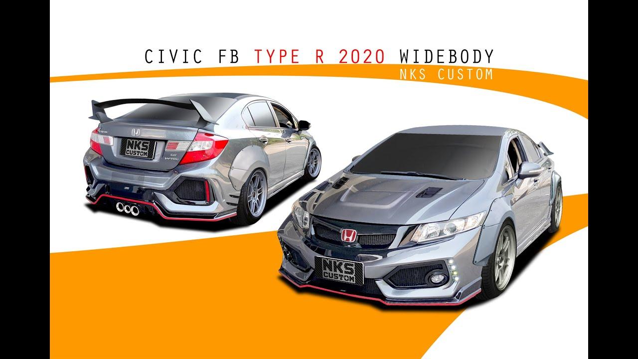ชุดแต่งรถ Honda Civic FB 2012 Type R 2020 จาก Nekketsu Racing