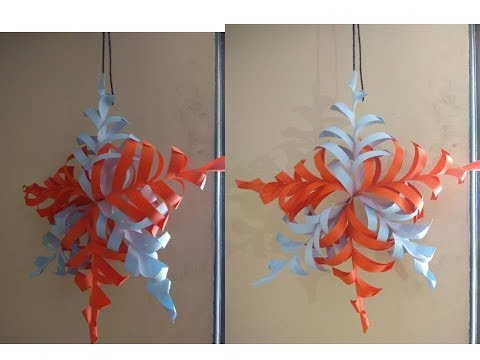 Easy DIY paper snow flake for christmas tree decoration // Last minute christmas decoration idea