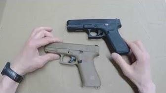 Glock 17 gen 5 ja Glock 19 X esittely ja vertailu
