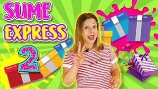 SLIME EXPRESS 2 | SLIME CHALLENGE | Juegos con Slime