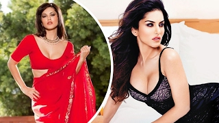 Sexy Sunny Leone Steams It Up In Red Hot Saree