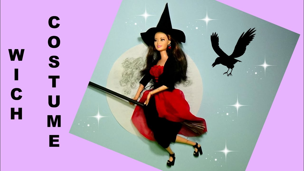 Halloween costume for barbie diy for dolls witch costume youtube halloween costume for barbie diy for dolls witch costume solutioingenieria Choice Image