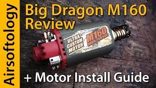 A MONSTER Airsoft Motor! | Big Dragon M160 Review + Motor Install How-To | Airsoftology