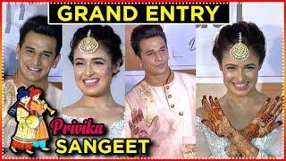Prince Narula And Yuvika Chaudhary GRAND ENTRY At Sangeet Ceremony | #privika