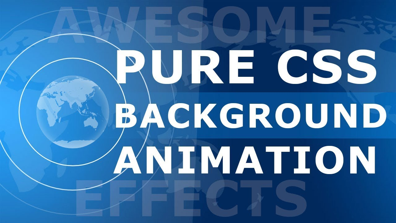 CSS Pulsating And Rotating Earth Animation Effects - Pure CSS Background  Animation Effects