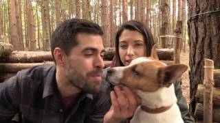 Taking My Dog And My Girlfriend To The Bushcraft Camp + Subscriber Gifts!