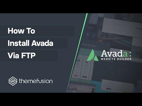 How To Install Avada via FTP Video