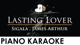 Sigala , James Arthur - Lasting Lover - Piano Karaoke Instrumental Cover with Lyrics