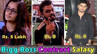 बिग बॉस प्रतियोगी की सैलरी । Bigg Boss Contestants Salary