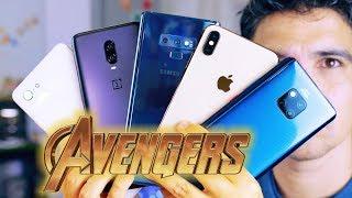 LOS TELÉFONOS DE LOS VENGADORES!! Mejor móvil del mercado (capitulo 1)